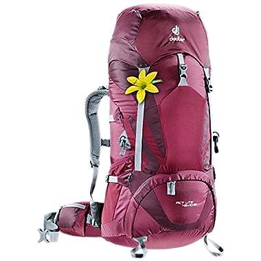 Deuter ACT Lite 45 + 10 SL - Ultralight Trekking Backpack, Blackberry/Aubergine