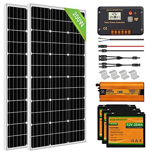 ECO-WORTHY 200W 12V Solaranlage...