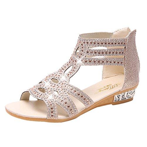 LANSKIRT_Zapatos Sandalias de Vestir Mujer, Mujer Verano Sandalias y Chanclas para niñas...