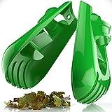 Sleek Garden Series Ergonomic Large Leaf Scoop Hand Claw Rakes -Fast Leaf, Shrub...
