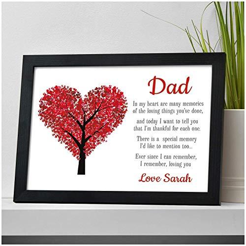 Keepsake Personalised Poem Dad Birthday Gifts Daddy Father Grandad Presents...