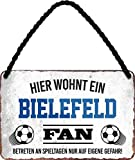 Blechschilder HIER WOHNT EIN Bielefeld Fan Hängeschild