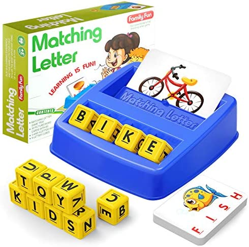HahaGift Educational Toys for 3 5 Year Old Boy Girl Gifts Matching Letter Learning Games Activities product image