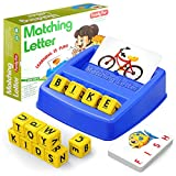 HahaGift Educational Toys for 3-5 Year Old Boy Girl Gifts, Matching Letter Learning Games Activities, Ideal Christmas Birthday Gift for Toddler Kids Age 2 3 4 5 Year Olds Boys Girls