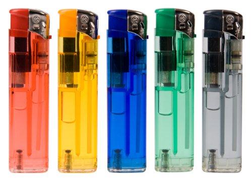 Mechero De gas recargable electrónico-Lote De 50-Slim-FLAMECLUB, multicolor transparente: Amazon.es: Hogar