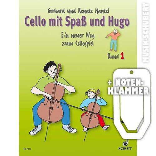 Cello mit Spaß und Hugo Band 1 inkl. praktischer Notenklammer - Ein neuer Weg zum Cellospiel für den Einzel- und Gruppenunterricht mit Kindern im Alter von 5-10 Jahren (broschiert) von Gerhard und Renate Mantel (Noten/Sheetmusic)