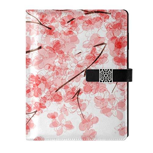 Cuaderno A5 – Cuaderno de notas con hojas sueltas para viaje, color negro, con 6 anillas, rellenable para planificar programas, dibujar negocios