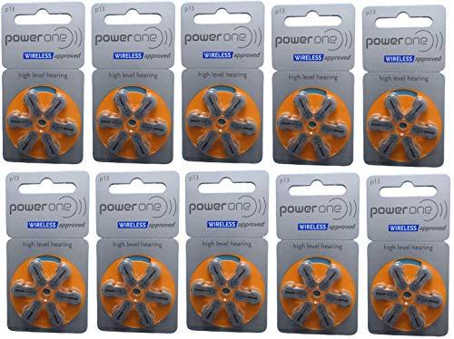 PowerOne P 13 Pilas para audífonos PR48, 310 mAh, 1,45 V, 60...