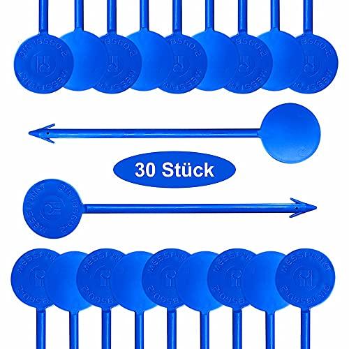 Estrichmesspunkte, 30 Stück, blau, Flexibel, Estrich-Messpunkt mit Widerhaken Messpunkte, Estrichmesspunkt zur Einrichtung einer Messstelle von SmartProduct