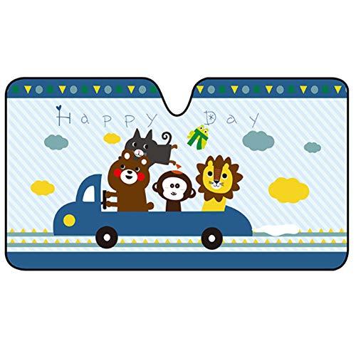 Fat Bear auto zonnescherm auto venster schaduwen voor kinderen baby huisdier UV stralen/zonlicht bescherming, auto zonwering schild vizier voor kinderen met PVC adsorptie elektrostatische voor auto voorruit 03