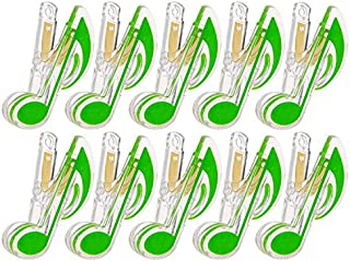 Kmise Z2876 Lovely Fashion Piano Note Clips, Deluxe, 10 Pieces, Green