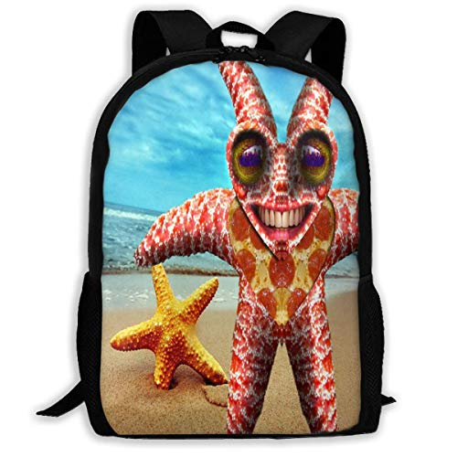 TTmom Schulrucksack,Schüler Bag,Rucksack Damen Herren Backpack for Girls Boys Starfish Funny Zipper School Bookbag Daypack Travel Rucksack Gym Bag for Man Women