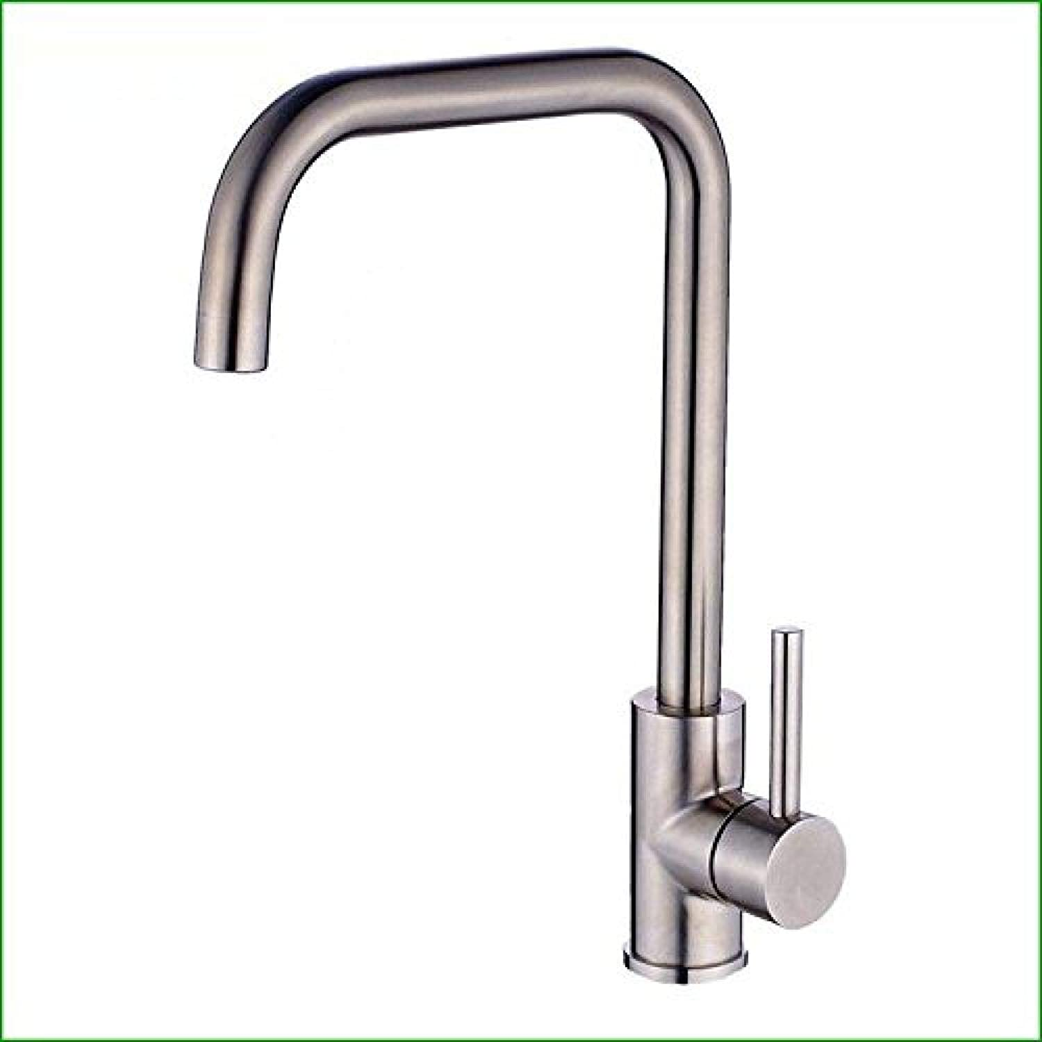 Honcx Copper Hot and Cold Kitchen Sink Taps Kitchen Faucet Stainless Steel Faucet Kitchen Basin Hot and Cold Single Hole redating Sink Faucet Dish Drawing Sinks