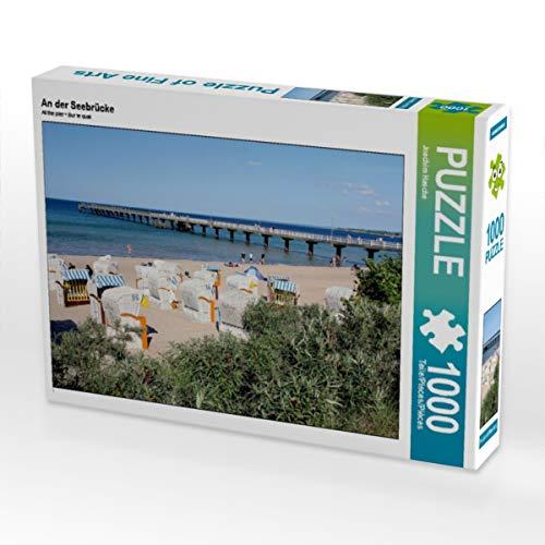 CALVENDO Puzzle An der Seebrücke 1000 Teile Lege-Größe 64 x 48 cm Foto-Puzzle Bild von Joachim Hasche