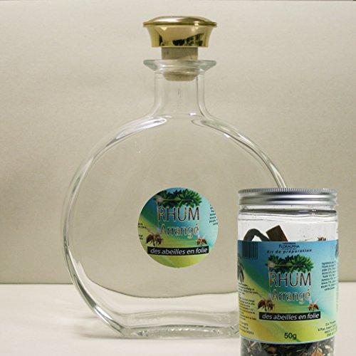Floralpina karaf, leeg, 750 ml + rum gearrangeerd