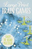 Large Print Brain Games (192pp Royal-format foil puzzles)