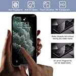 Peafowl Compatible with iPhone 12 Pro Max Screen Protector, 2 Pack Privacy Tempered-Glass Screen Protector + 2 HD Tempered Glass Camera Lens Protector+ Film set