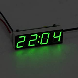 Outflower USB-L/üfter 4-Zoll-Uhr 6-Zoll-Schmiedeeisen-L/üfter echte Temperatur LED-Licht zeigt Echtzeit