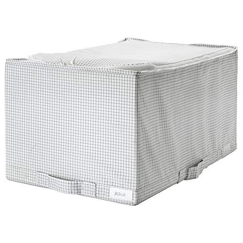 IKEA ASIA STUK - Estuche de Almacenamiento, Color Blanco y Gris