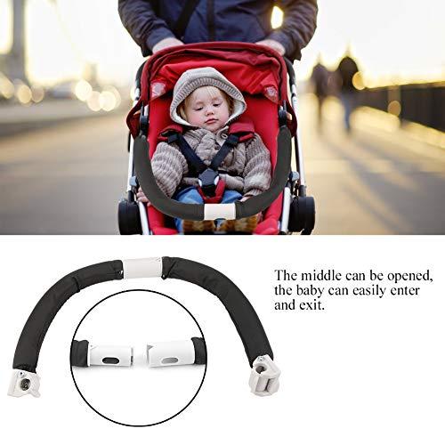 Maniglia per Passeggino Generico, Regolabile Carrello per Bambini Maniglia del Manico del Paraurti Paraurti del Bracciolo del Passeggino Accessori per Passeggini per 0-5 Anni Baby (Nero)