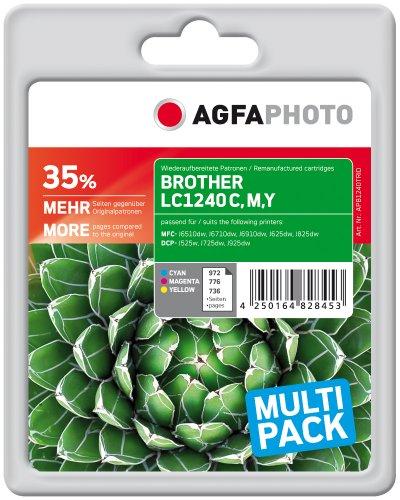 AgfaPhoto APB1240TRID Toner für Brother MFCJ6510 (3) 1 x 972 cyan 1 x 776 magenta, 1 x 736 gelb Seiten