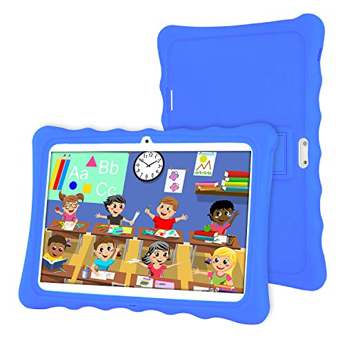 Tablet 10 Pollici,LAMZIEN Tablet Bambini,Android 8.0 2GB+32GB 1280*800 IPS Display 3G Dual-SIM Quad-Core WiFi Bluetooth Juegos Educativos,BLU