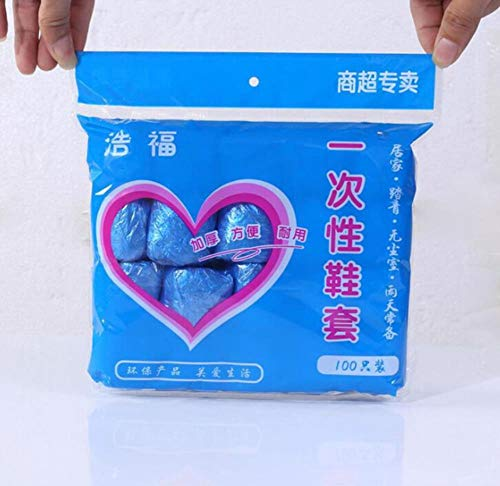 N-A - 100 fundas desechables de plástico para zapatos de maletero, protección...