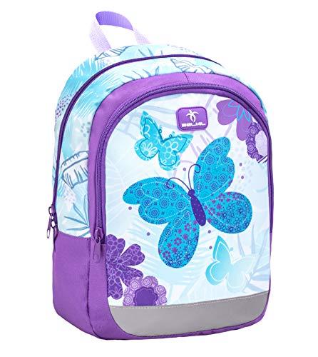 Belmil Kinderrucksack Mädchen für 3-6 Jährige - Super Leichte 260 g/Kindergarten/Krippenrucksack Kindergartentasche Kindertasche/Schmetterling/Lila, Purple (305-4 Butterfly)