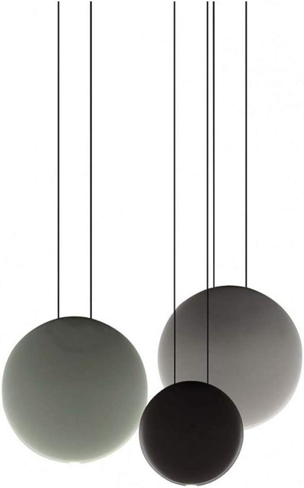 Vibia,lampada a sospensione, 3 pezzi 3 led 4, 48 w 350 ma, con diffusore in metacrilato, serie cosmos 251062/1A