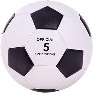 Balón de Fútbol,Balón de Fútbol de Entrenamiento,Sports Star de Fútbol Talla 5,Balón de Fútbol para Entrenamiento, Unisex Adulto,Color Negro, Tamaño 5