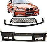 DM Autoteile E36 - Paraurti anteriore Sport nero + accessori + labbro Evo per M3 M anno di costruzione 90-99 ABE