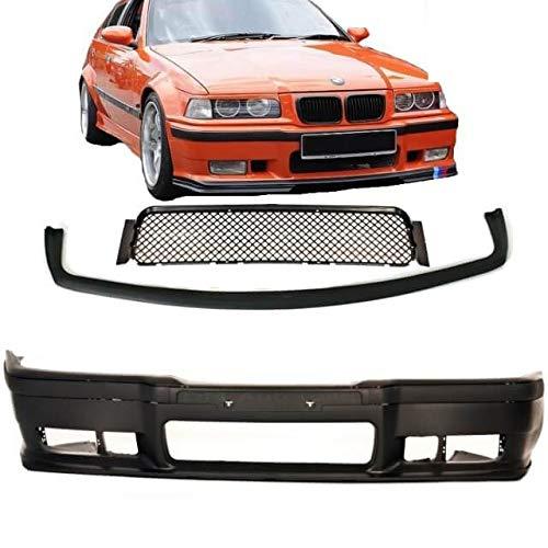 DM Autoteile E36 Paraurti Anteriore Sport Nero + Accessori + Evo Lippe per M3 M Bj 90-99 ABE