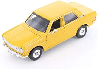 Showcasts 1971 Datsun 510 Hard Top, Yellow 34518 - 1/24 Scale Diecast Model Toy Car