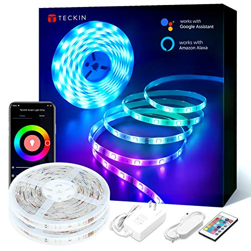 10M Luces de Tiras Led WiFi, TECKIN Tiras Led Rgb 5050 12V c