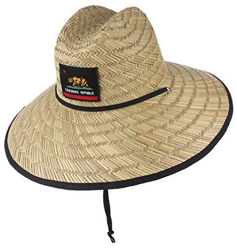 Generies Sombreros de Paja Hombre Unisexo Sombrero de Safari para Campo Gorro de Paja Decoración de Tela Limpresa con ala Ancha Anti-UV para Mujer y Hombres,57 CM
