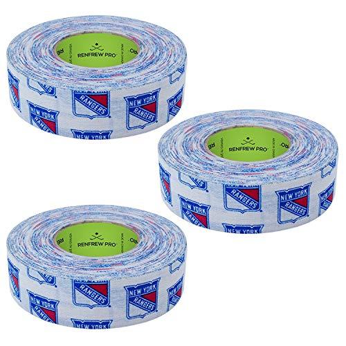 Renfrew 3 Pack Team Hockey Stick Blade Shaft Bat Sports Tape (NY Rangers)