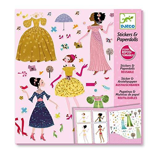 Djeco - Paper Dolls und Sticker Dresses Through the Season Papierpuppen