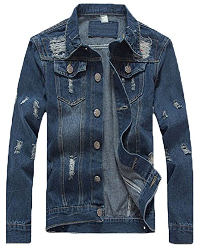 Zago Men's Big & Tall Unlined Denim Jacket Blue XXXL