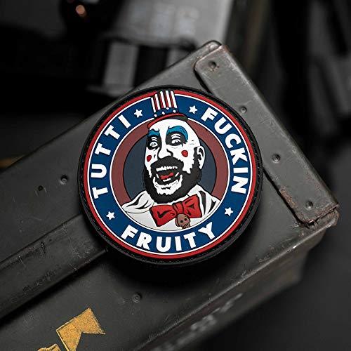 NEO+ Tactical Gear Captain Spaulding Tutti Fruity F * * Kin Haus der 1000Leichen The Devils Rejects PVC-Gummi Moral Patch, Haken Moral Patch von