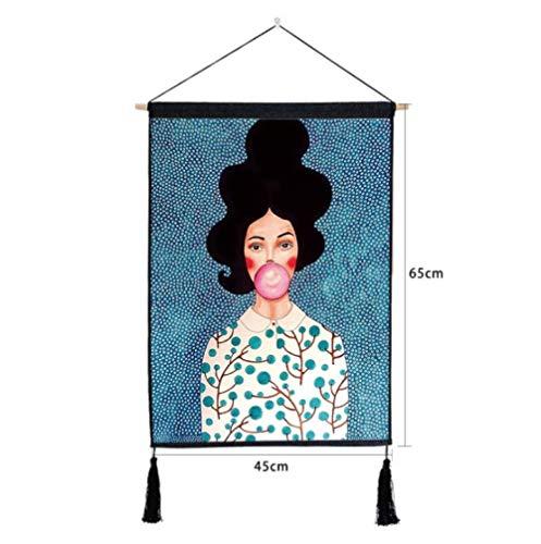 yiyiran tekenrol schilderen op rol muur plakfolie handgemaakt tapijt hangend schilderen, abstract figuurschildering