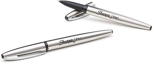 Sharpie Stainless Steel Grip Pen, Fine Point (0.8mm), Black Ink, Open Stock