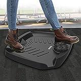 VESHOW Standing Desk Mat, Premium Anti-Fatigue Comfort Mat, Perfect for Kitchens and Standing Desks, Not-Flat Ergonomic Comfort Anti Fatigue Mat with Foot Massage, 30x24.6x4.2 in, Black