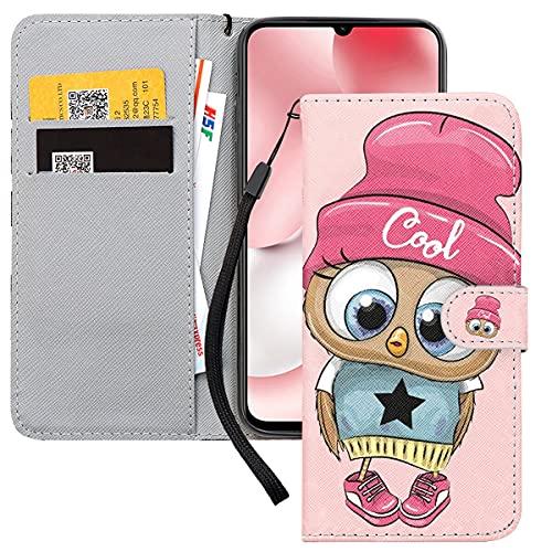 Yoedge Handyhülle für Xiaomi Mi 10T / 10T Pro 5G / Redmi K30S Lederhülle,Rosa Premium Leder Flip Hülle mit Exquisites Cartoons Muster Brieftasche Klapphülle Handytasche Hülle für Redmi K30S 6,67