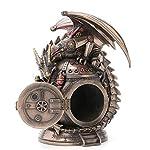 "7.25"" Steampunk Dragon on the Time Machine Trinket Box Jewelry Box Gothic 6"