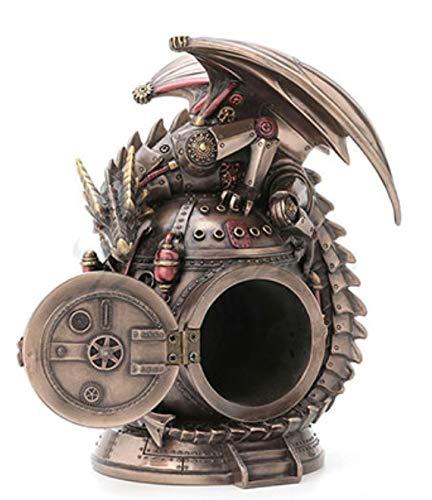 "7.25"" Steampunk Dragon on the Time Machine Trinket Box Jewelry Box Gothic 4"