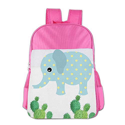 16.23oz Children Easily Cleaned Backpack Bags Colorful Cactus Illustration