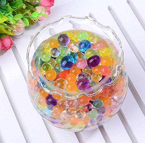 水でふくらむ ジェリーボール ぷよぷよボール 1.5cm 約1000個パック 色が選べる全8色 DIY ガーデニング 観葉植物 水耕栽培 ハイドロカルチャー (イエロー)