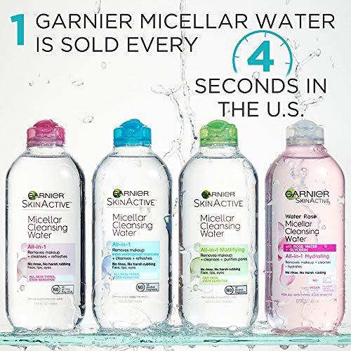 Garnier SkinActive Micellar Cleansing Water, For Waterproof Makeup, 13.5 fl. oz.