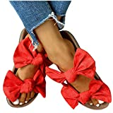 Sandals for Women Flat,Women's 2020 Fashion Bow Comfy...