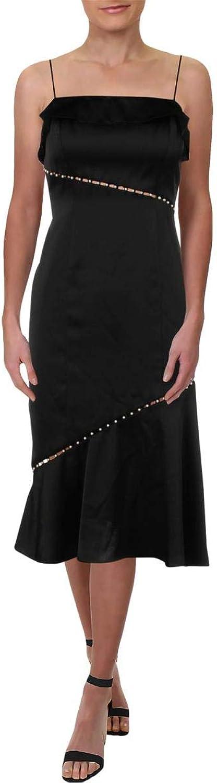Aidan Mattox Womens Sleeveless Beaded Cocktail Dress